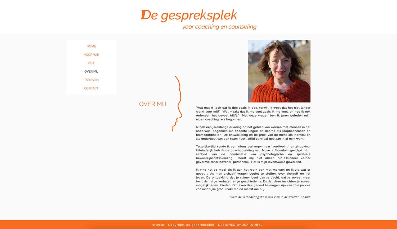De gespreksplek website