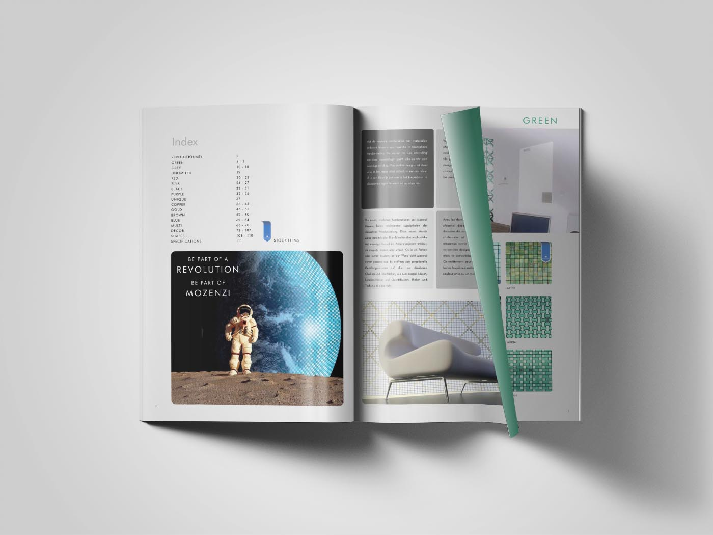 Mozenzi magazine binnenkant