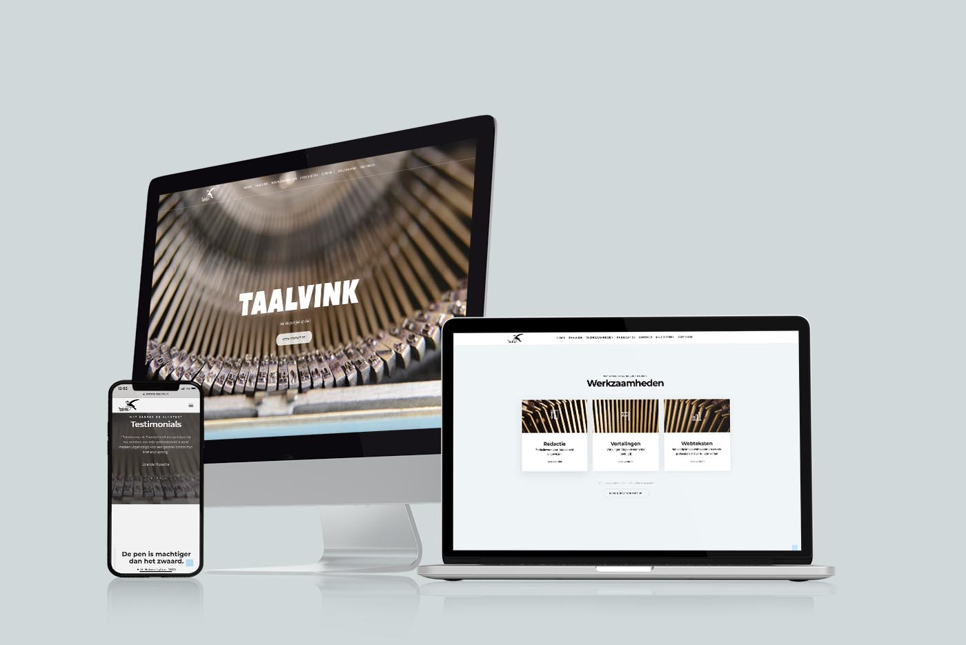 Webdesign Tekstbureau de Taalvink